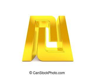 bajo, shekel, símbolo, ángulo