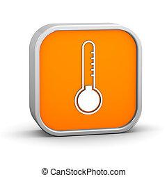 bajo, temperatura, señal