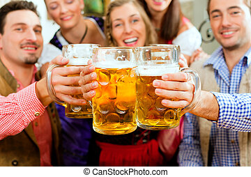 bajor, ivás, sör, kocsma, emberek