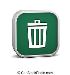 bak, afval, groene, meldingsbord