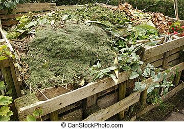 bak, compost, houten