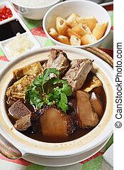 Bak kut teh - Malaysian stew of pork and herbal soup