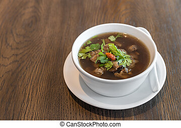 Bak kut teh Thai chinese traditional style soup with pork ...