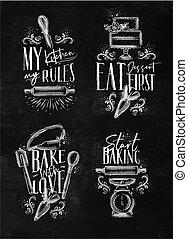 Bake lettering chalk