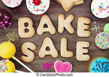 Cookies spelling bake sale