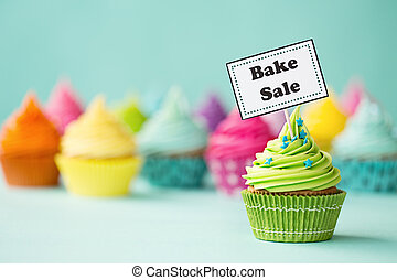 Bake sale cupcake - Cupcake with Bake Sale sign