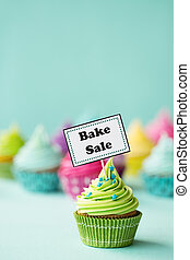 Bake sale cupcake - Cupcake with Bake Sale sign