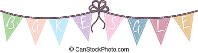 Bake sale pennant graphic - Print Pastel colored Bake sale...
