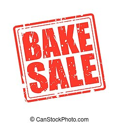 BAKE SALE RED STAMP TEXT