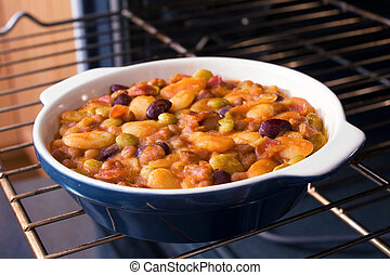 Baked Bean Casserole - Baked bean casserole with butter ...