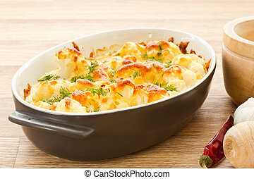 Baked Cauliflower - cauliflower baked with egg and cheese ...
