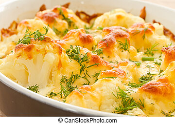 Baked Cauliflower - cauliflower baked with egg and cheese...