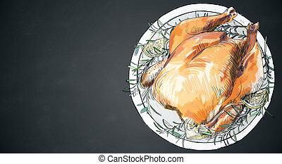 Baked chicken texture