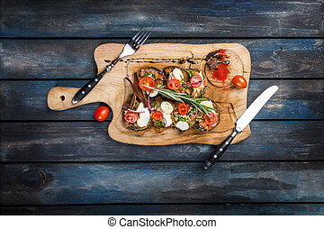 Baked eggplant with ricotta and tomato - Eggplants fried...