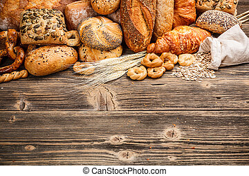 Baked goods - Assortment of baked goods with space for text