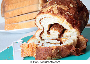 Baked goods  bread with nuts and choco flavor