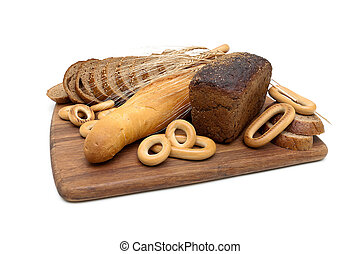 baked goods isolated on white background