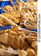 baked goods on banquet table - Different baked goods on...
