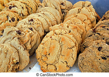 Baked Goods - Fresh baked cookies in bakery.