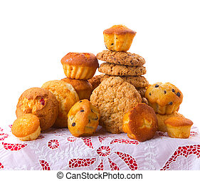 baked goods - Selection of baked goods...cookies, brownies,...