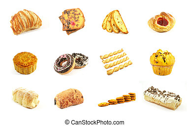 Baked Goods Series 4 Isolated on a White Background