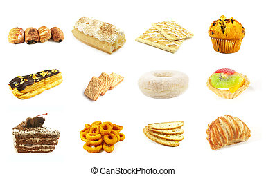 Baked Goods Series 6 Isolated on a White Background