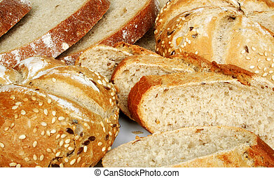 Baked goods - healthy breakfast - rolls and bread