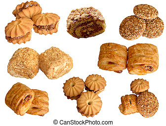 Baked goods. - Assortment, White, Deliciously, Delicious,...
