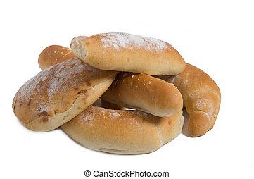 Baked Goods     - Baked goods for food on white