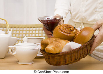 Baked goods with jam