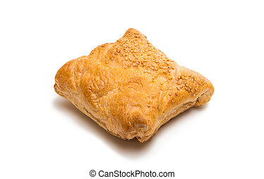 baked pastry on a white background