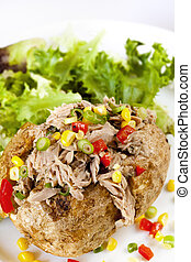 Baked Potato with Tuna