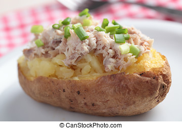 Baked potato with tuna salad
