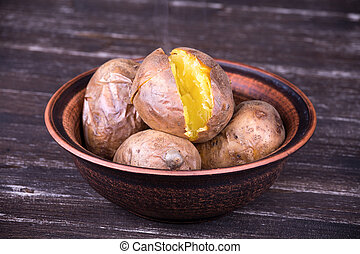 Baked potatoes - Ukrainian national dish is baked potatoes