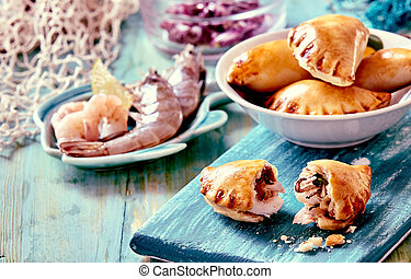 Baked Seafood Empanadas with Fresh Ingredients