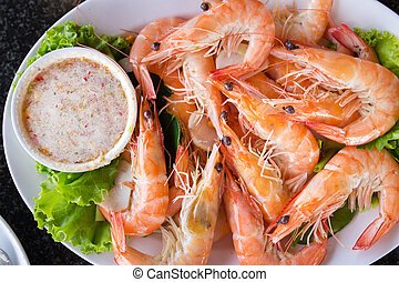 baked shrimp with salt