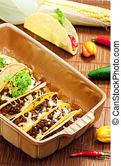 baked tacos with minced meat