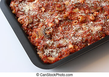 Baked Ziti - Homemade baked zitii topped with parmesan ...