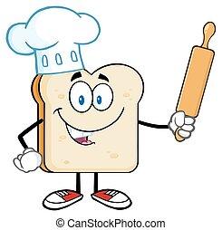 Baker Bread Slice Character