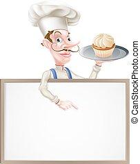 Baker Chef Sign