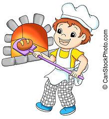 baker - colored illustration of a baker