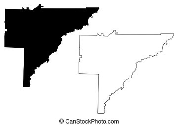 Baker County, Georgia (U.S. county, United States of America, USA, U.S., US) map vector illustration, scribble sketch Baker map