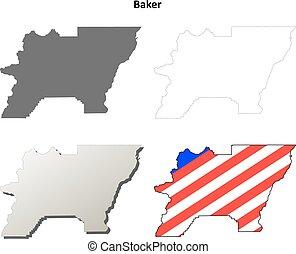 Baker County, Oregon outline map set - Baker County, Oregon...
