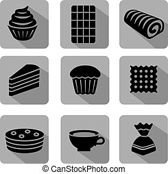 baker icon set flat