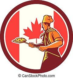 baker pizza pan oven CIRC-CAN-FLAG