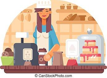 Baker seller woman