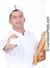 Baker showing card