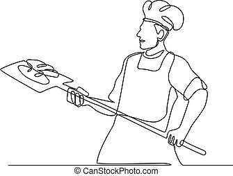 Baker With Oven Peel Continuous Line