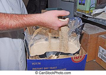 baker working