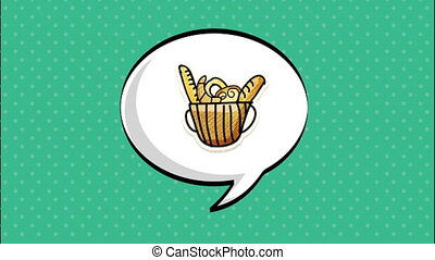 Bakery and Coffee Shop background, Video animation HD1080